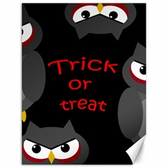 Trick Or Treat   Owls Canvas 12  X 16   by Valentinaart