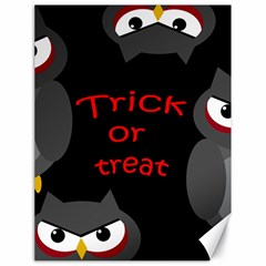 Trick Or Treat   Owls Canvas 18  X 24   by Valentinaart