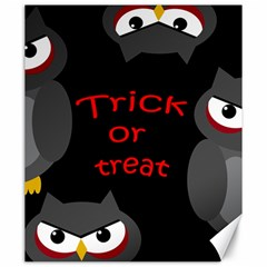 Trick Or Treat   Owls Canvas 20  X 24   by Valentinaart