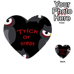 Trick Or Treat   Owls Multi Purpose Cards (heart)  by Valentinaart