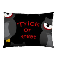 Trick Or Treat   Owls Pillow Case by Valentinaart