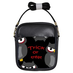 Trick Or Treat   Owls Girls Sling Bags by Valentinaart