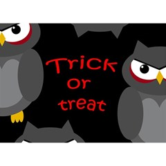Trick Or Treat   Owls Birthday Cake 3d Greeting Card (7x5) by Valentinaart