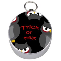 Trick Or Treat   Owls Silver Compasses by Valentinaart