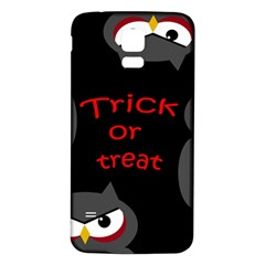 Trick Or Treat   Owls Samsung Galaxy S5 Back Case (white) by Valentinaart