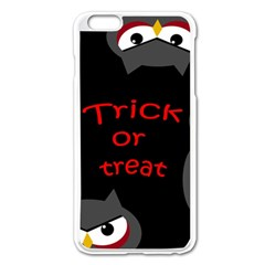 Trick Or Treat   Owls Apple Iphone 6 Plus/6s Plus Enamel White Case by Valentinaart