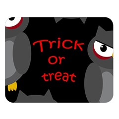 Trick Or Treat   Owls Double Sided Flano Blanket (large)  by Valentinaart