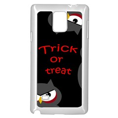 Trick Or Treat   Owls Samsung Galaxy Note 4 Case (white) by Valentinaart