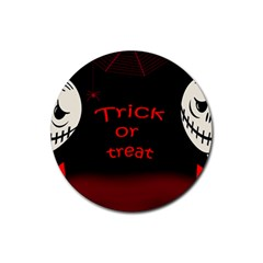 Trick Or Treat 2 Rubber Round Coaster (4 Pack)  by Valentinaart