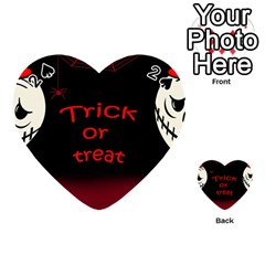 Trick Or Treat 2 Playing Cards 54 (heart)  by Valentinaart