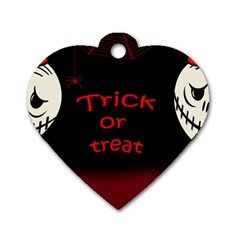 Trick Or Treat 2 Dog Tag Heart (one Side) by Valentinaart