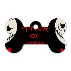 Trick Or Treat 2 Dog Tag Bone (one Side) by Valentinaart