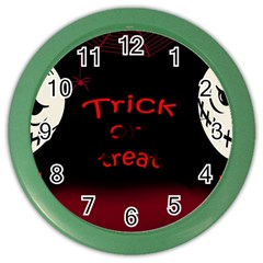 Trick Or Treat 2 Color Wall Clocks by Valentinaart