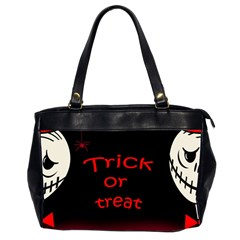 Trick Or Treat 2 Office Handbags (2 Sides)  by Valentinaart