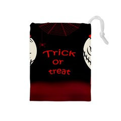 Trick Or Treat 2 Drawstring Pouches (medium)  by Valentinaart