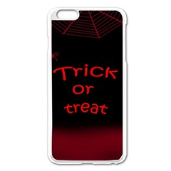 Trick Or Treat 2 Apple Iphone 6 Plus/6s Plus Enamel White Case by Valentinaart