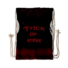 Trick Or Treat 2 Drawstring Bag (small) by Valentinaart
