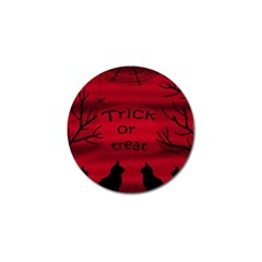 Trick Or Treat   Black Cat Golf Ball Marker (10 Pack) by Valentinaart