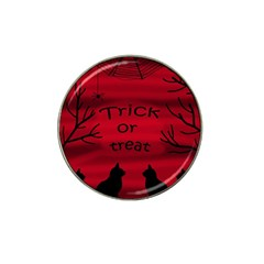 Trick Or Treat   Black Cat Hat Clip Ball Marker (10 Pack)