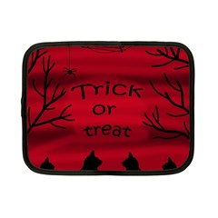 Trick Or Treat   Black Cat Netbook Case (small)