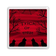 Trick Or Treat   Black Cat Memory Card Reader (square)  by Valentinaart