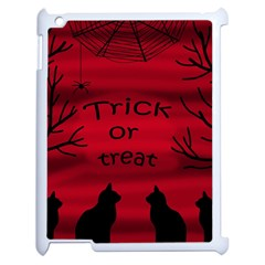 Trick Or Treat   Black Cat Apple Ipad 2 Case (white) by Valentinaart