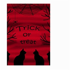 Trick Or Treat   Black Cat Large Garden Flag (two Sides) by Valentinaart