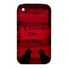 Trick Or Treat   Black Cat Apple Iphone 3g/3gs Hardshell Case (pc+silicone) by Valentinaart