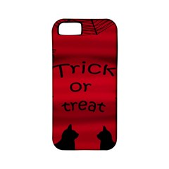 Trick Or Treat   Black Cat Apple Iphone 5 Classic Hardshell Case (pc+silicone) by Valentinaart