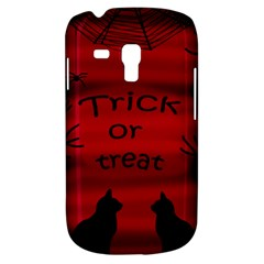 Trick Or Treat   Black Cat Samsung Galaxy S3 Mini I8190 Hardshell Case by Valentinaart