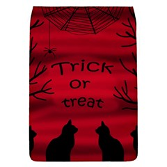 Trick Or Treat   Black Cat Flap Covers (l)  by Valentinaart