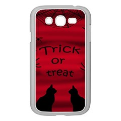 Trick Or Treat   Black Cat Samsung Galaxy Grand Duos I9082 Case (white) by Valentinaart