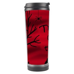 Trick Or Treat   Black Cat Travel Tumbler by Valentinaart