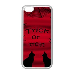 Trick Or Treat   Black Cat Apple Iphone 5c Seamless Case (white) by Valentinaart
