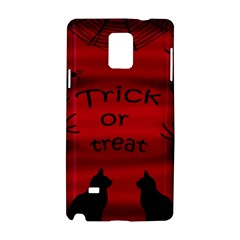 Trick Or Treat   Black Cat Samsung Galaxy Note 4 Hardshell Case by Valentinaart