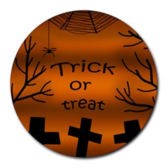 Trick Or Treat   Cemetery  Round Mousepads
