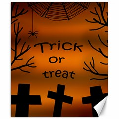 Trick Or Treat   Cemetery  Canvas 20  X 24   by Valentinaart