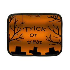 Trick Or Treat   Cemetery  Netbook Case (small)  by Valentinaart