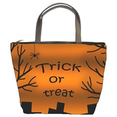 Trick Or Treat   Cemetery  Bucket Bags by Valentinaart