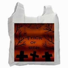 Trick Or Treat   Cemetery  Recycle Bag (one Side) by Valentinaart