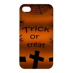 Trick Or Treat   Cemetery  Apple Iphone 4/4s Hardshell Case by Valentinaart