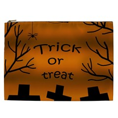Trick Or Treat   Cemetery  Cosmetic Bag (xxl)  by Valentinaart