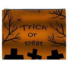 Trick Or Treat   Cemetery  Cosmetic Bag (xxxl)  by Valentinaart