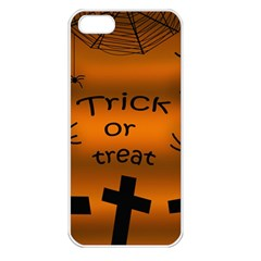 Trick Or Treat   Cemetery  Apple Iphone 5 Seamless Case (white) by Valentinaart