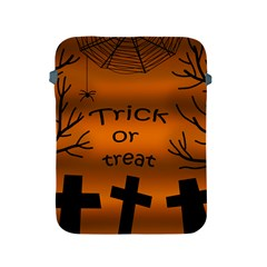 Trick Or Treat   Cemetery  Apple Ipad 2/3/4 Protective Soft Cases by Valentinaart