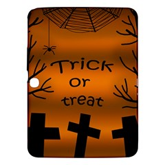 Trick Or Treat   Cemetery  Samsung Galaxy Tab 3 (10 1 ) P5200 Hardshell Case  by Valentinaart