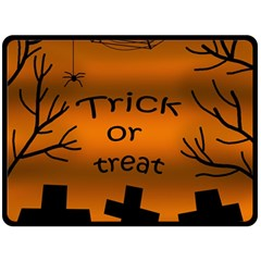 Trick Or Treat   Cemetery  Double Sided Fleece Blanket (large)  by Valentinaart