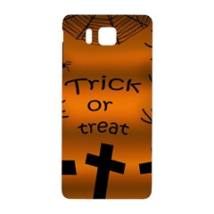 Trick Or Treat   Cemetery  Samsung Galaxy Alpha Hardshell Back Case by Valentinaart
