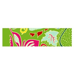 Green Organic Abstract Satin Scarf (oblong) by DanaeStudio