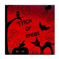 Trick Or Treat   Halloween Landscape Tile Coasters by Valentinaart